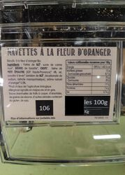 NAVETTES FLEURS D'ORANGER BIO