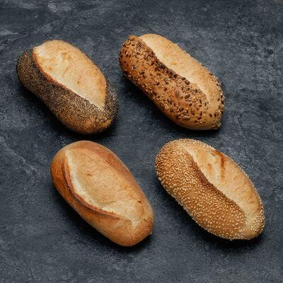 Petit pain assorti, froment, sésame et pavot, 6 pièces, 300g