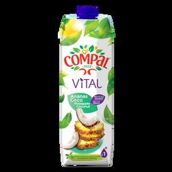Jus de fruits ananas/coco COMPAL, brick 1 litre
