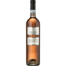 Vin rosé AOC d'Italie Bardolino Chiarretto Signore Giuseppe, bouteillede 75cl