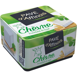 Fromage de chèvre au lait pasteurisé Pavé d'AFFINOIS, 22%mg, 150g
