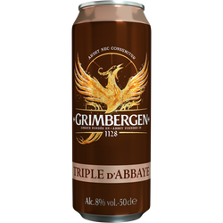 Bière blonde GRIMBERGEN triple, 8°, canette de 50cl