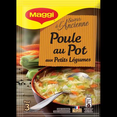 Potage séshydraté poule au pot aux petits légumes MAGGI, 58g, 75cl