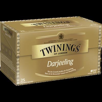 Thé Darjeeling TWININGS, 25 sachets, 50g