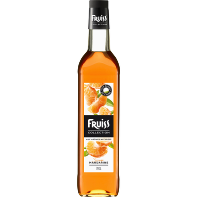 Sirop à la mandarine FRUISS COLLECTION, bouteille de 70cl