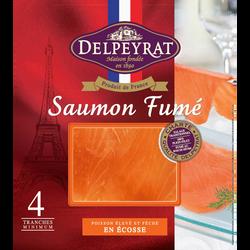 Saumon fumé supérieur Ecosse DELPEYRAT, 4 tranches soit 130g