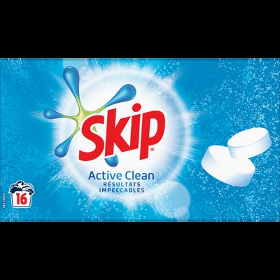 Lessive active Clean SKIP, 32 tablettes soit 960g