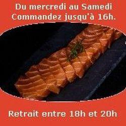 Sashimi 12 pièces, Saumon,SUSHI MONT BLANC