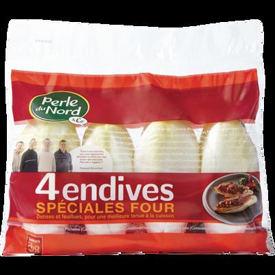 Endive spéciale four, PERLE DU NORD, France, sachet 4 pièces
