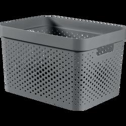Bac infinity dots recyclé CURVER, 17l, gris