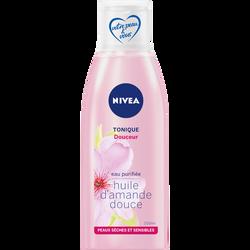 Tonique douceur pour peaux sèches et sensibles NIVEA, flacon de 200ml