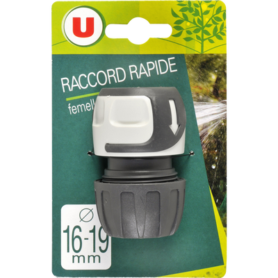 Raccord rapide femelle U, 16/19mm, soft touch