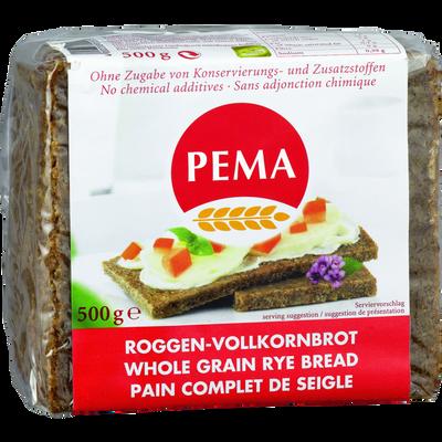 Pain au seigle complet PEMA, 500g
