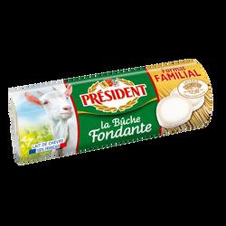 Fromage Bûche Fondante au lait de chèvre pasteurisé PRESIDENT,24% de MG, 250g