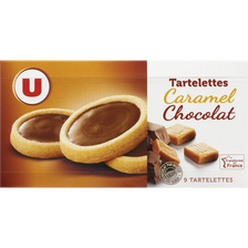 Tartelettes au caramel et au chocolat au lait U, paquet de 125g