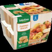 Blédina Coupelle 100% Fruits Biscuit Bledina, De 6 À 36 Mois, 8x100g