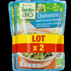 Quinotto légumes verts/parmesan bio JARDIN BIO 2x220g