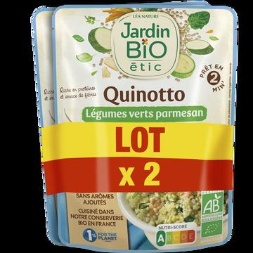 Jardin Bio Quinotto Légumes Verts/parmesan Bio Jardin Bio 2x220g