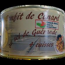 Confit de canard 4 cuisses SAVEUR D'AUGE, 1,250Kg