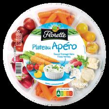 Florette Plateau Apéro(tomate Cerise, Céléri Brche, Maïs, Chou-fleur, Carotte,radis, Olive, 2 Sauces), , 600g