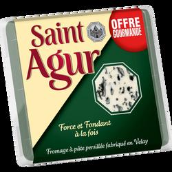 From.past.à pâte persillée 33% SAINT AGUR port.125g offre gourmande