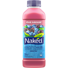 Smoothie multivitamines blue Machine NAKED, bouteille de 75cl