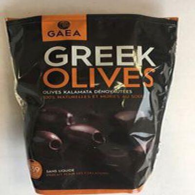 GREEK OLIVES - olives Kalamata dénoyautées 100% naturelles et mûries au soleil GAEA 150G