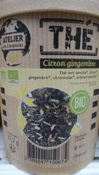 Thé vert citron gingembre bio 37.5g ateliers des cafés