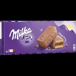 Gâteau moëlleux choco trio MILKA, paquet de 180g
