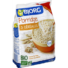 Porridge 3 céréales bio BJORG, paquet de 375g