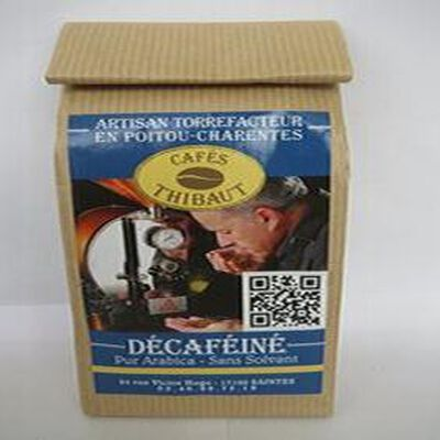 Café pur arabica, décaféiné-sans solvant, 250gr, sachet , Café Thibaut
