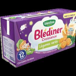 Croissance aux légumes variés Blediner BLEDINA, dès 12 mois, 2x250ml