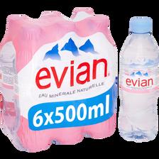 Evian Eau Minérale Naturelle , 6x50cl
