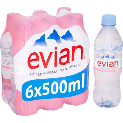 Eau minérale naturelle EVIAN, 6x50cl