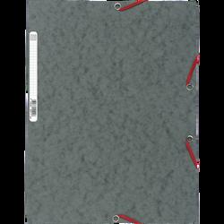 Chemise à élastique 3 rabats EXACOMPTA, 24x32 cm, carton, gris