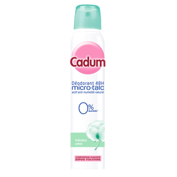 Déodorant pour femme fraîcheur coton CADUM, atomiseur de 200ml
