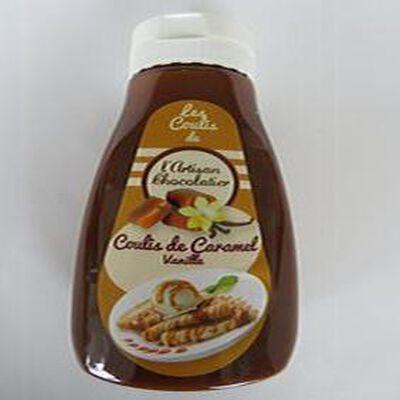 Coulis de caramel vanille, 330gr, flacon, l'artisan chocolatier