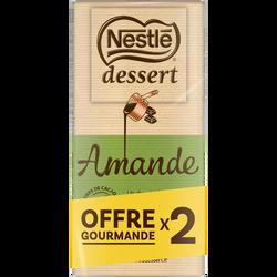 Chocolat amande NESTLE DESSERT, 2x180g