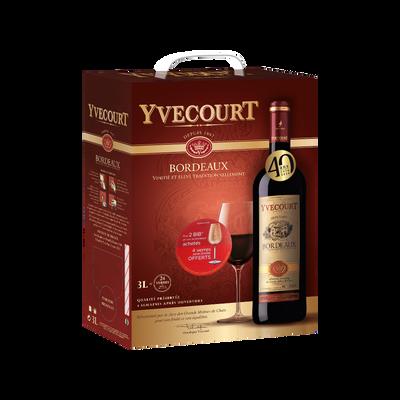 """Vin rouge AOC Bordeaux """"Cellier Yvecourt"""", 3l"""