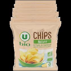 Chips nature bio, U BIO, 6x30g