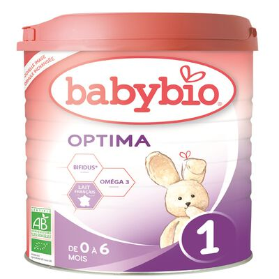 BABYBIO 1 0-6 MOIS OPTIMA 900G