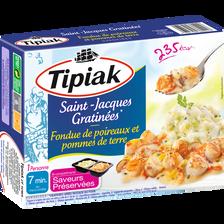 Noix de St Jacques gratinées et fondue de poireaux pommes de terre TIPIAK, 310g