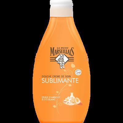 Gel Douche crème sublimante huile abricot et lys LE PETIT MARSEILLAIS,flacon 250ml