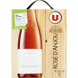 Vin rosé AOP d'Anjou les hauts buis U, fontaine à vin de 3l