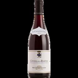 Vin rouge Côtes du Rhône AOP MICHEL CHAPOUTIER, bouteille de 75cl