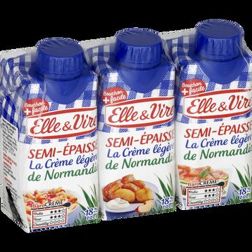 Elle & Vire Elle&vire Crème Semi-épaisse Légère 18%mg - 3x20cl