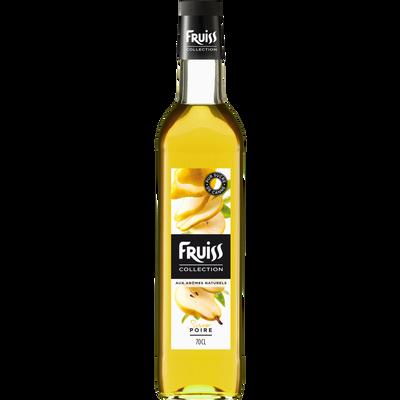 Sirop à la poire FRUISS COLLECTION, bouteille de 70cl