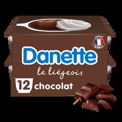 Liégeois chocolat  DANETTE, 12x100g
