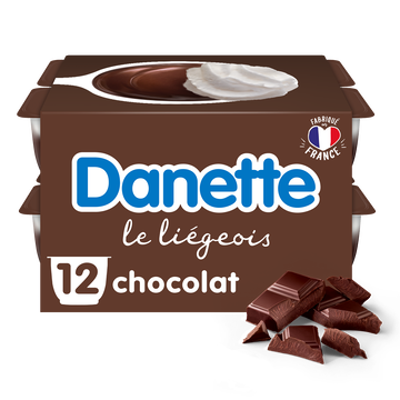 Danone Liégeois Chocolat Danette, 12x100g
