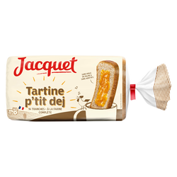 Pain de mie Tartine P'tit Déj à la farine complète JACQUET, 410g